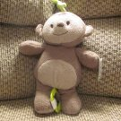 NWT Carters Just One You Tan Monkey Musical Crib Pull Toy Lovey Plush