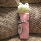 NWT Carters Precious Firsts Pink Frog Security Blanket Lovey Plush