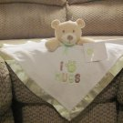 NWT Baby Gear Tan Teddy Bear I Paw Hugs Green Security Blanket Lovey Plush