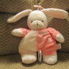 Prestige Baby White Bunny Rabbit Pink Musical Crib Pull Toy Lovey Plush