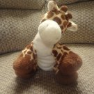 2007 Ty Pluffies Tiptop Brown And Yellow Giraffe Plush Lovey 11""