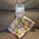 NWT Blankets and Beyond Teddy Bear Gray Security Blanket Lovey Plush