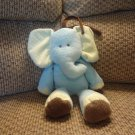 Carters Blue Elephant Musical Go To Sleep  Baby Crib Pull Toy 13""