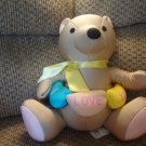 Moshi By Brentwood Tan I Love You Teddy Bear Microbead Lovey Plush 15""