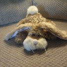 """Ganz #HE3422 1999 Scruffy Bunny Rabbit Lovey Plush Pink Nose Mouth Pink Yellow Bow 11"""""""