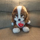 George Valentino Large Sad Sam I Love You Puppy Dog Plush 13x13""