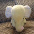 Vintage Bantam Toys Yellow Musical Wined Up Elephant Lovey Plush 7""