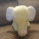 """Vintage Bantam Toys Yellow Musical Wined Up Elephant Lovey Plush 7"""""""