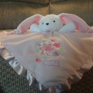 Carters Just One Year Lovely Girl Pink Polka Dots Rattle Bunny Rabbit Security Blanket