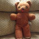 Vintage HTF Knickerbocker Brown Teddy Bear Starburst Eyes Plush 13""
