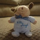 Carters Child Of Mine Little Angel Satin Wings Rattles Puppy Dog  Lovey Plush 5""