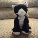 "Mary Meyer Sweet Rascals Black White  Kitty Cat Lovey Plush 10"""
