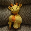 Snuggle Toy Yellow Orange Giraffe Musical Crib Pull Toy Lovey Plush 9""