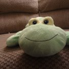 HTF Baby Ganz Green Floppy Frog BG571 Lovey Plush 14""