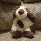 Jellycat Bunglie Puppy Dog  Black Button Eyes Velvet Nose Lovey Plush 10""