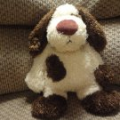 Jellycat Bunglie Puppy Dog  Black Button Eyes Velvet Nose Lovey Plush 15""