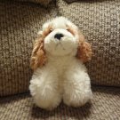 Russ Berrie White Cocker Spaniel Pudding Puppy Dog Plush Lovey 24041
