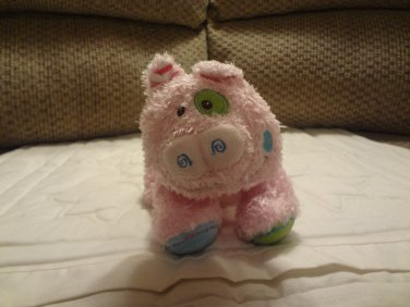 Mary Meyer Pink Flower Belly Curly Tail Piglet Pig Plush 7""