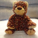 Ty Pluffies Pokey Brown Spotted Leopard Tylux 2003 Lovey Plush 14""