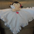Carters One Size Girl Heart Black White Polka Dots Rattles Security Blanket