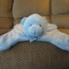 Baby Gund Comfy Cozy Blue Teddy Bear Security Blanket 58893 17x14""