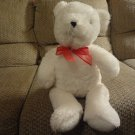 Carters White Teddy Bear Lovey Red See Thru Bow 17""