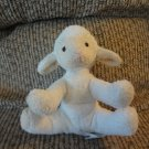 Russ Berrie Pottery Barn Kids Small Lamb Cream White Rattles Lovey Plush