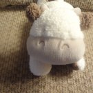 Carters Style 49634 White Wooly Tan Brown Moos Laying Cow Lovey Plush 8""