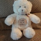 Sandra Magsamen Messages From The Heart White Teddy Bear Cute As A Button Lovey Plush 12""""