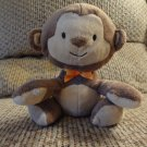 Carters Child Of Mine Bean Bag Brown Tan Monkey Lovey Plush 6""