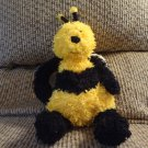 Jellycat Bunglie Bumble Bee Black Button Eyes Velvet Nose Wings Lovey Plush 15""