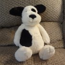 Jellycat Bunglie Bashful Puppy Dog Spot Black Button Eyes Velvet Nose Whiskers Lovey Plush 11""
