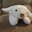 "WMT 1996 TY Pillow Pal 14"" Baa Lamb White with Yellow Bow Lovey Plush"