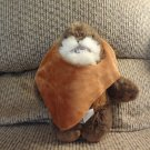 2012 Disney Lucasfilm Ltd Furry Ewok Star Wars Fleece Hoodie Lovey Plush 9""