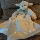 Bearington Baby Collection White Cream Child Of God Lamb Security Blanket Lovey Plush