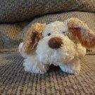 "Aurora Floppy Puppy Dog Cream Carmel Brown Lovey Plush 7"""