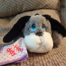 Vintage Mattel Emotions? Boo Hoo Buddy Crying Gray Puppy Dog Handkerchief Plush10""