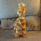 Gund #31062 Orson Jr Furry Carmel Brown White Horns Posable Legs Giraffe Lovey Plush 10""