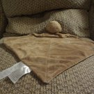 Carters Baby Brown Monkey Mommy Loves Me Velour Rattles Security Blanket 12x12""