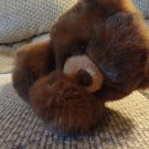 WT Aurora Flopsies Bear Brown Glass Like Eyes Brown Felt Nose Lovey Plush 12""