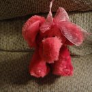 Russ Berrie #29034 Emeline Hot Pink Sparkle Heart Toes Elephant Lovey Plush 10""