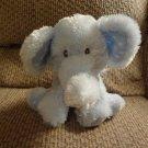 """Russ Berrie #35382 Elliefumps Light Blue White Polka Dot Ears Feet Elephant Lovey Plush 13"""""""
