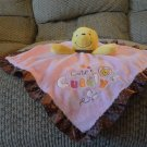 Disney Baby Winnie The Pooh Cute & Cuddly Pink Rattles Security Blanket Lovey Plush