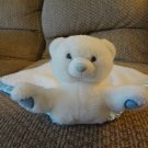 "My Banky My Name Is Hugs Small Polar Bear Security Blanket Lovey 13""x 14 """