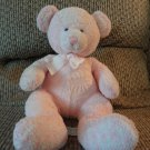 Russ Berrie 2585 Pink Hush A Bye Rattles Teddy Bear Lovey Plush