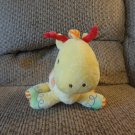 Carters #8627 Yellow Orange Brown Eyes Rattles Giraffe Baby Plush Lovey 8""