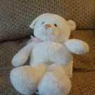 Gund Baby #59027 Sweetness Musical White Teddy Bear Brahms Lullaby Crib Pull Toy