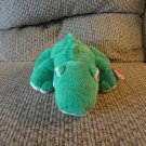 WMT Ty Pluffies Chomps Green Yellow Tylux Aligator Lovey Plush 10""