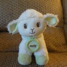 Amy Coe Learning Curve Curly Jingles Lamb White Wooly Fur Green Hooves Lovey Plush 6""