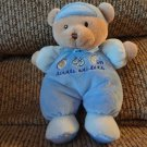 Carters Just One Year Blue Pajama Little Athlete Teddy Bear Plush Blue Satin Bow 10""